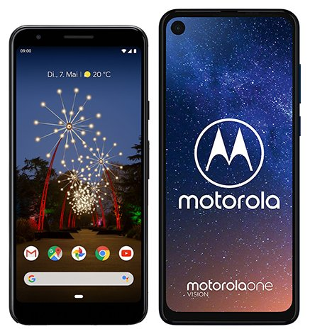 Smartphone Comparison: Google pixel 3a vs Motorola one vision