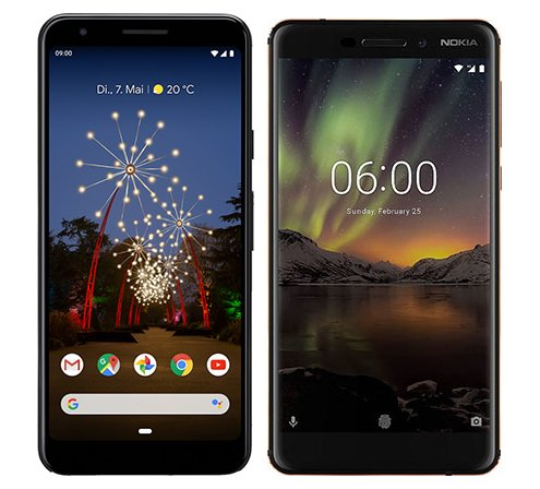 Smartphone Comparison: Google pixel 3a vs Nokia 6 1