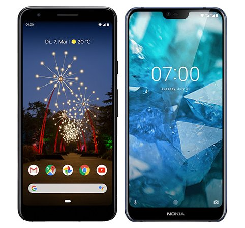 Smartphone Comparison: Google pixel 3a vs Nokia 7 1