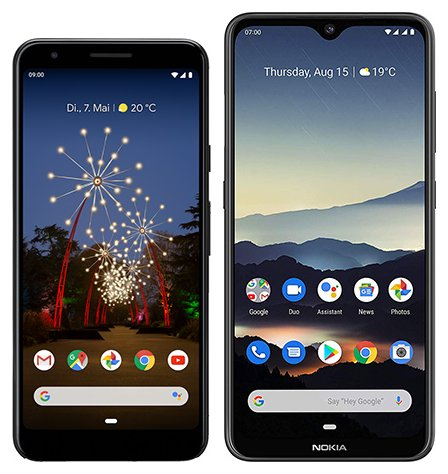 Smartphone Comparison: Google pixel 3a vs Nokia 7 2