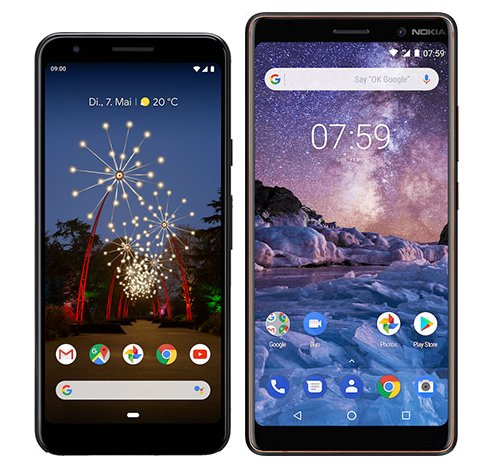 Smartphone Comparison: Google pixel 3a vs Nokia 7 plus