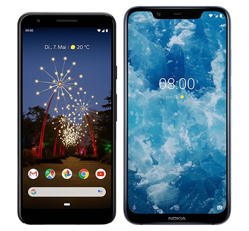 Smartphone Comparison: Google pixel 3a vs Nokia 8 1