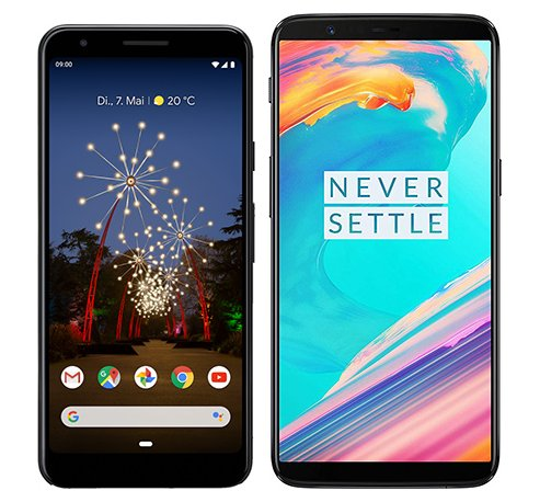 Smartphone Comparison: Google pixel 3a vs One plus 5t