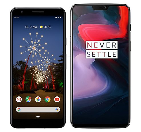 Smartphone Comparison: Google pixel 3a vs One plus 6
