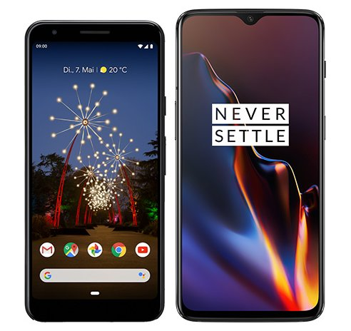 Smartphone Comparison: Google pixel 3a vs One plus 6t