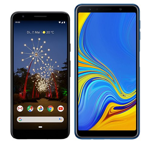 Smartphone Comparison: Google pixel 3a vs Samsung galaxy a7 2018