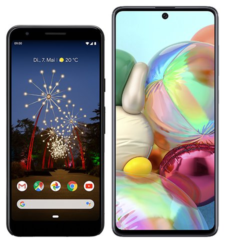 Smartphone Comparison: Google pixel 3a vs Samsung galaxy a71