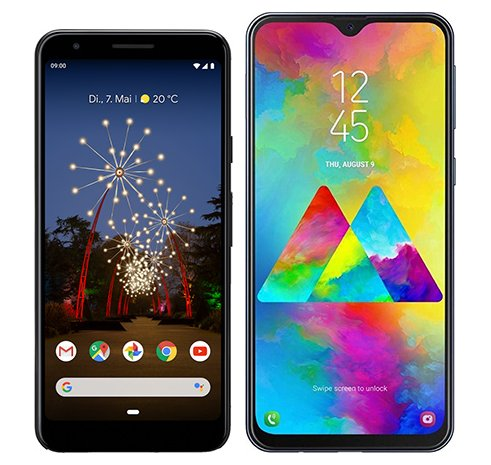 Smartphone Comparison: Google pixel 3a vs Samsung galaxy m20