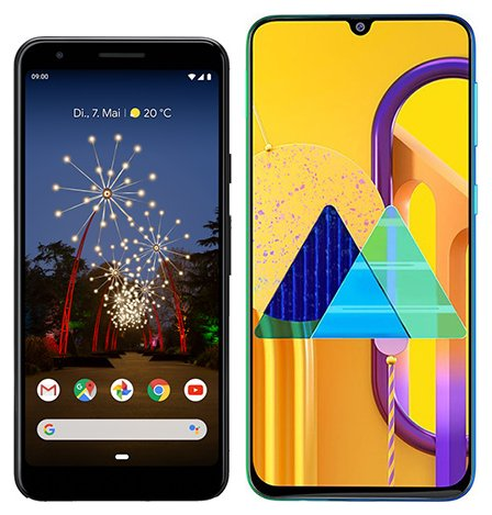 Smartphone Comparison: Google pixel 3a vs Samsung galaxy m30s