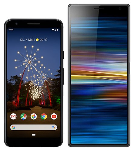 Smartphone Comparison: Google pixel 3a vs Sony xperia 10 plus