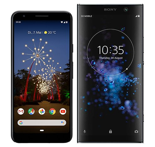 Smartphonevergleich: Google pixel 3a oder Sony xperia xa2 plus