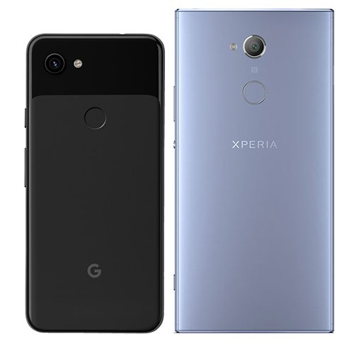 Pixel 3A vs Xperia XA2 Ultra. View of main cameras