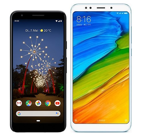 Smartphone Comparison: Google pixel 3a vs Xiaomi redmi 5 plus