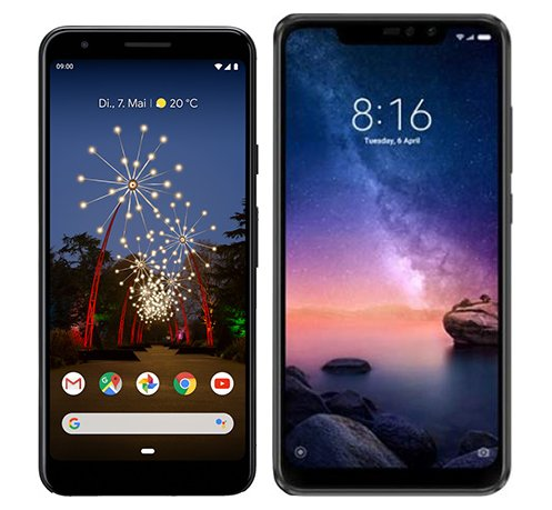Smartphone Comparison: Google pixel 3a vs Xiaomi redmi note 6 pro