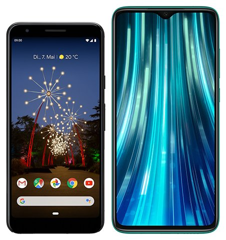 Smartphone Comparison: Google pixel 3a vs Xiaomi redmi note 8 pro