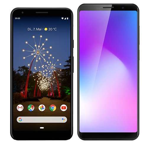 Smartphone Comparison: Google pixel 3a xl vs Cubot power