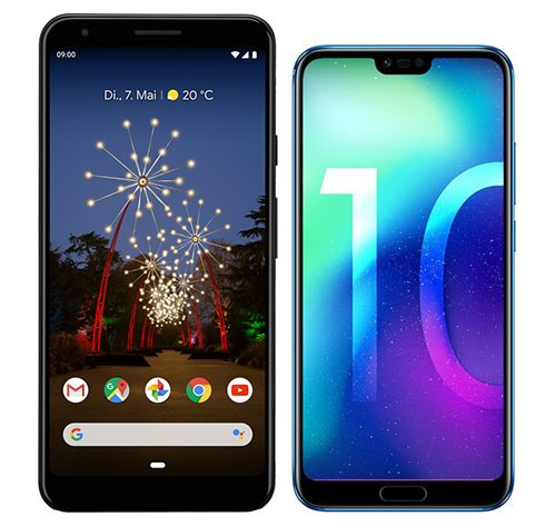 Smartphone Comparison: Google pixel 3a xl vs Honor 10