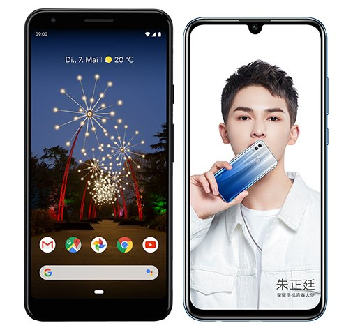 Smartphone Comparison: Google pixel 3a xl vs Honor 10 lite