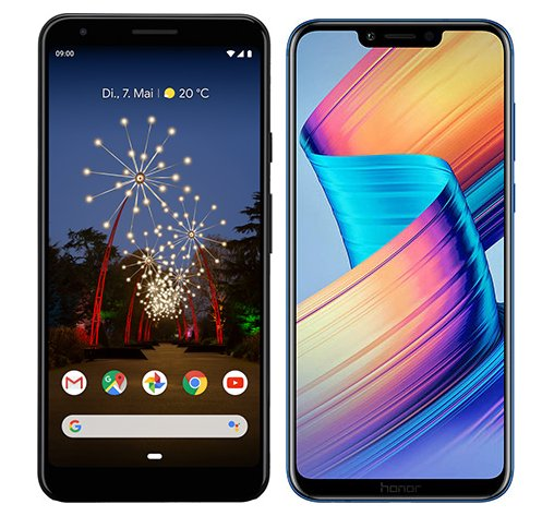 Smartphone Comparison: Google pixel 3a xl vs Honor play