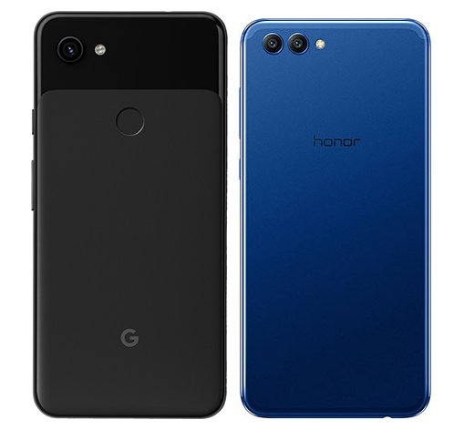 Pixel 3A XL vs Honor View 10. View of main cameras