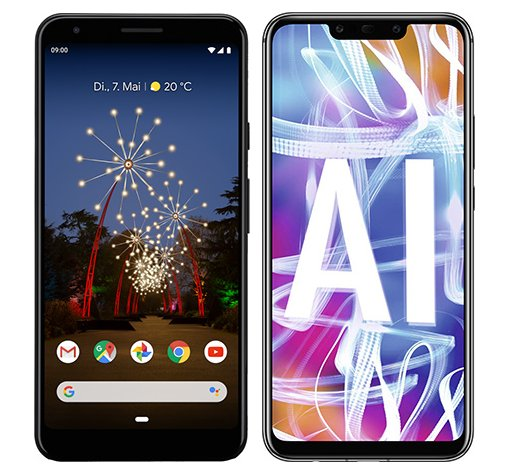 Smartphone Comparison: Google pixel 3a xl vs Huawei mate 20 lite