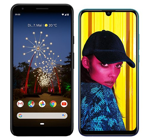 Smartphone Comparison: Google pixel 3a xl vs Huawei p smart 2019