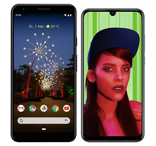 Smartphone Comparison: Google pixel 3a xl vs Huawei p smart plus 2019