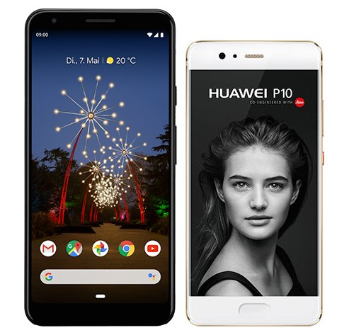 Smartphone Comparison: Google pixel 3a xl vs Huawei p10