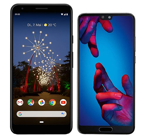 Smartphone Comparison: Google pixel 3a xl vs Huawei p20