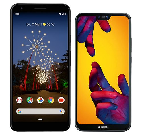 Smartphone Comparison: Google pixel 3a xl vs Huawei p20 lite
