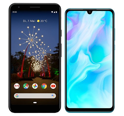 Smartphone Comparison: Google pixel 3a xl vs Huawei p30 lite