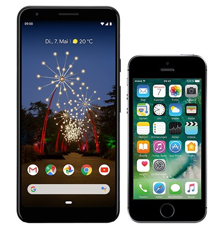 Smartphone Comparison: Google pixel 3a xl vs Iphone se