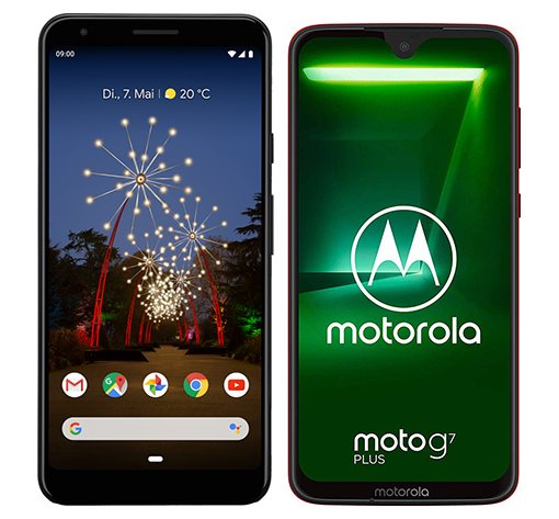 Smartphone Comparison: Google pixel 3a xl vs Motorola moto g7 plus