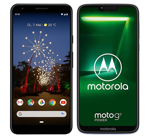 Smartphone Comparison: Google pixel 3a xl vs Motorola moto g7 power
