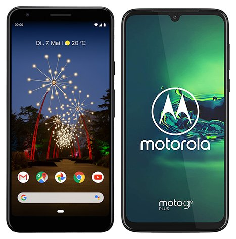 Smartphone Comparison: Google pixel 3a xl vs Motorola moto g8 plus