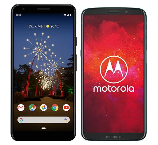Smartphone Comparison: Google pixel 3a xl vs Motorola moto z3 play