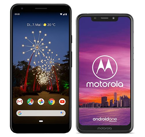 Smartphone Comparison: Google pixel 3a xl vs Motorola one