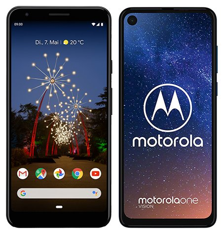 Smartphone Comparison: Google pixel 3a xl vs Motorola one vision