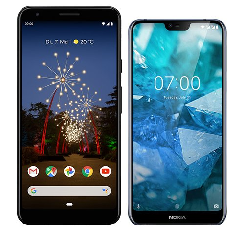Smartphone Comparison: Google pixel 3a xl vs Nokia 7 1