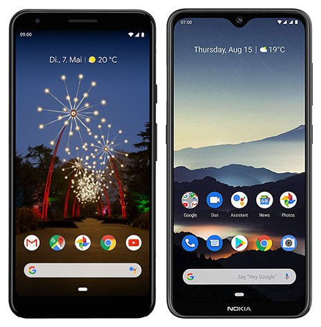 Smartphone Comparison: Google pixel 3a xl vs Nokia 7 2
