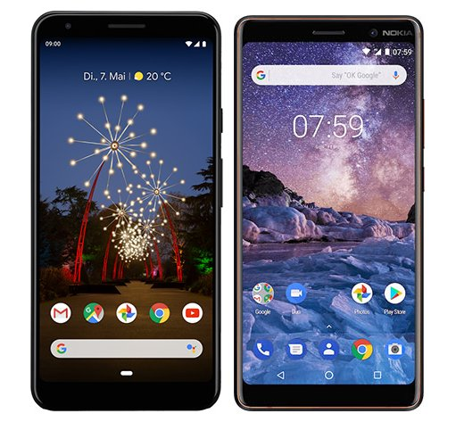 Smartphone Comparison: Google pixel 3a xl vs Nokia 7 plus