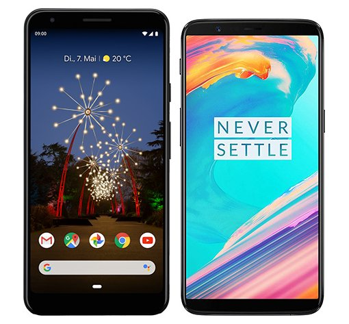 Smartphone Comparison: Google pixel 3a xl vs One plus 5t
