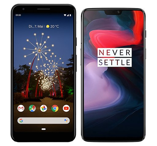 Smartphone Comparison: Google pixel 3a xl vs One plus 6