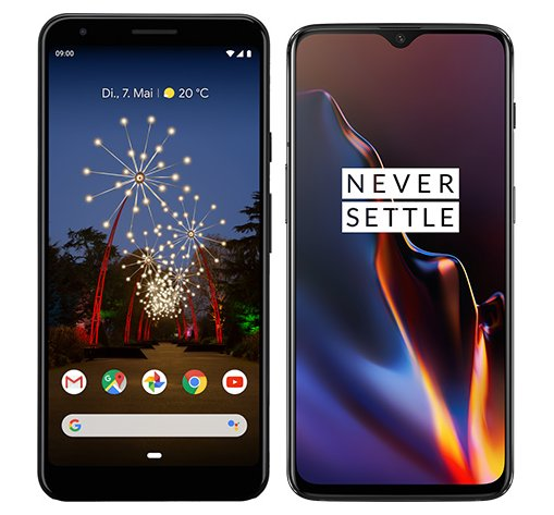 Smartphone Comparison: Google pixel 3a xl vs One plus 6t