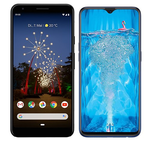 Smartphone Comparison: Google pixel 3a xl vs Oppo f9 pro