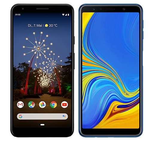 Smartphone Comparison: Google pixel 3a xl vs Samsung galaxy a7 2018