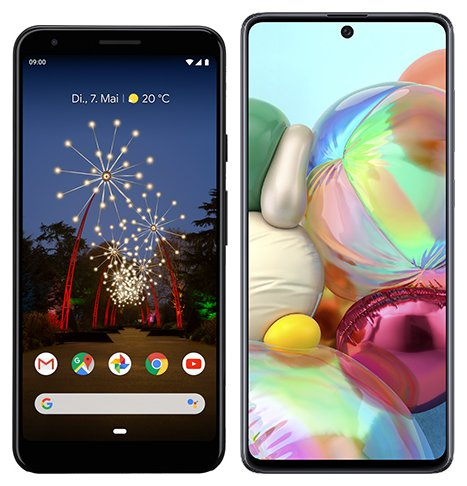 Smartphone Comparison: Google pixel 3a xl vs Samsung galaxy a71