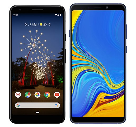 Smartphone Comparison: Google pixel 3a xl vs Samsung galaxy a9