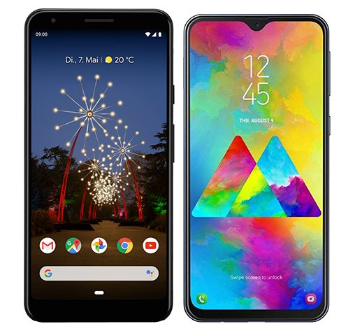 Smartphone Comparison: Google pixel 3a xl vs Samsung galaxy m20