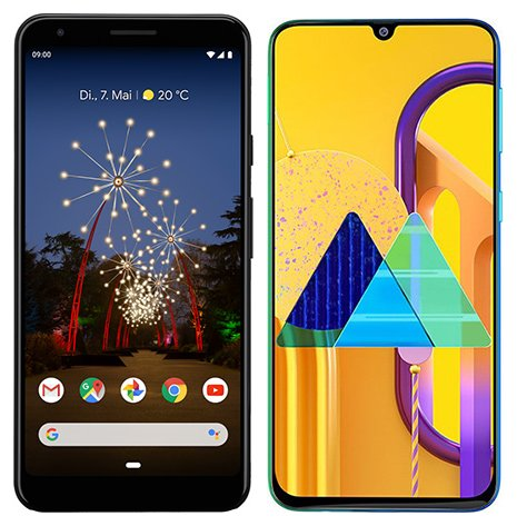 Smartphone Comparison: Google pixel 3a xl vs Samsung galaxy m30s
